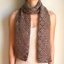 Crochet Patterns For Scarves Delectable Crochet Spot Blog Archive Crochet Pattern Diamond Eyelet Scarf
