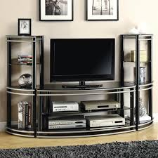 demilune blacksilver finish tv stand u0026 2 media towers newton grinnell pella knoxville marshalltown des moines brooklyn oskaloosa furniture store tv stand7 stand