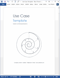 Use Templates Use Case Template Ms Word Visio Templates Forms