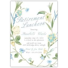 Summer Floral Retirement Party Invitations Paperstyle