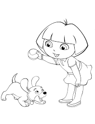 Download Christmas Dora The Explorer Coloring Pages 20 Colouring