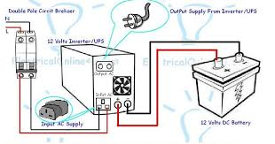 wiring diagram for connecting home ups to home electrical wiring how to connect ups inverter to battery and to ac supply on wiring diagram for connecting