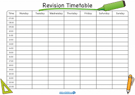 Revision Schedule Template The School Stickers Revision Timetable Is Here Timetable