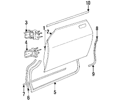 parts com® jaguar door door and components belt molding to vin 1996 jaguar xjs 2plus2 l6 4 0 liter gas door components