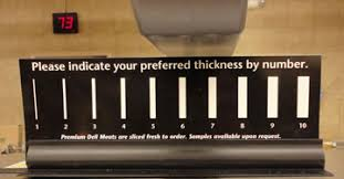 Deli Slice Thickness Chart Lunch Meat Thickness Chart Related Keywords Suggestions