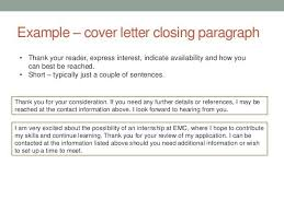 cover letter closing in cover letter closing paragraph examples