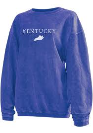 Kentucky Womens Blue Long Sleeve Corded Crew Sweatshirt 20830268