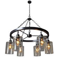 30 inch vintage round iron steel frame jute rope chandelier pendant 6 lightceiling lights