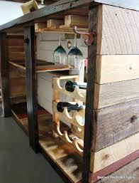 diy rustic bar. Wonderful Rustic Wine Holder Pallet Wood Wineglass DIY Bar Http To Diy Rustic Bar