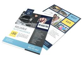 Leaflet On Word Insurance Templates Handbill Template Microsoft Word Leaflet