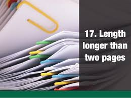 Length longer than two pages ...