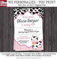 moo invitations 23 best cow birthday party images on pinterest cow birthday