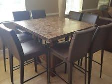 granite high top dining table