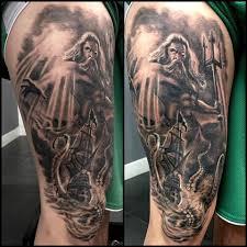 Poseidon Vs The Kraken By Isabelle Vannucci True Colour Tattoo