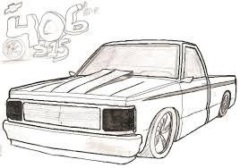truck drawing outline. Beautiful Outline Lifted Chevy Truck Outline Drawing Intended R