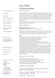 Resume Purchasing Purchasing Manager Cv Sample