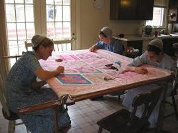 so sweet and peaceful- what talent these ladies have!! | Amish ... & Material Girl Quilt Shop in Eustis, Florida Adamdwight.com