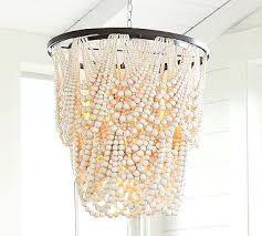 wood bead chandelier pottery barn wood bead chandelier pottery barn bella wood bead chandelier for