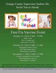 Free Flu Shot Clinic County Of Orange Nextdoor