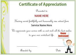 Certificate Of Appreciate 20 Free Certificates Of Appreciation For Employees Editable