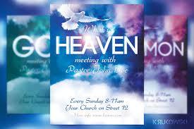 Church Flyer Template Heaven Church Flyer Flyer Templates Creative Market 1