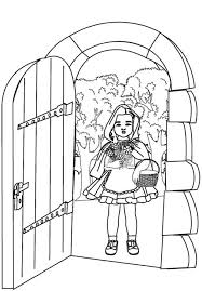 open front door drawing. Delighful Front 600x863 Red Riding Hood Open Grandma House Door Coloring Pages Batch In Front Drawing O