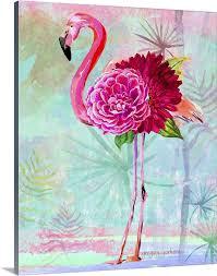 fl flamingo wall art canvas prints