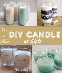 Keep your house smelling good with DIY scented candles. The scent lets you  relax after