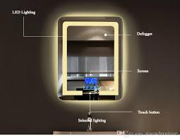 mirrors with lighting. 2017 bathroom wall mount lighting led vanity mirror with lights mirrors touch button screen for home decor from sinowfurniture a