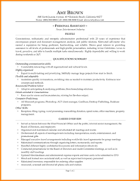 Personal Resume Resume Example Personal Assistant Resume