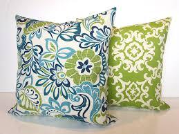 Green Outdoor Pillows Lime green Pillow Blue Outdoor Throw