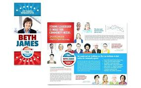 Political Pamphlet Template Free Campaign Flyers Templates Candidate