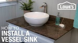 How To Install A Vessel Sink YouTube - Install bathroom sink