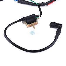cc mini atv complete wiring harness cdi stator 50 70 90 110 125cc mini atv complete wiring harness cdi stator ignition electric 4