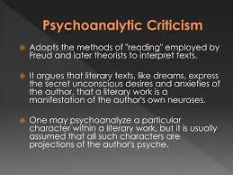 ppt psychoanalytic literary criticism powerpoint presentation  psychoanalytic criticism