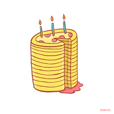 Gif Birthday Cake Pizza Pepperoni Artists On Tumblr Piece Of Cake