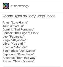 Lady Gaga Birth Chart Zodiac Signs As Lady Gaga Songs Virgo Moon Sign Zodiac