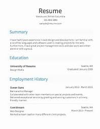 Free Create A Resume Interesting Create Resume For Free Sample Resume For Graduates
