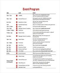 How To Create An Event Program Booklet Free 25 Program Examples In Pdf Ai Pages Google Docs