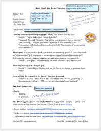Fundraising Thank You Letter Templates Free Download Donation Thank You Letter Template
