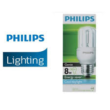 PHILIPS GENIE 8W E27 ENERGY SAVER BULBS ...