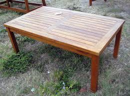 outdoor teak coffee table sold