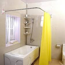 shower rods curved curved shower curved shower curtain rod suction cups l shaped corner bath rail