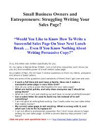sales for small business small business owners and entrepreneurs struggling writing your sale