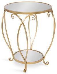 marilisa round mirrored metal table