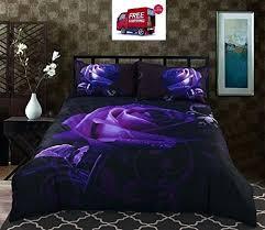 gothic king size bedding sets bedding set purple rose print comfortable 6 bedding sets twin