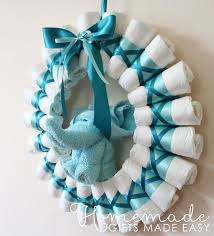 rolled diaper wreath instructions finished wreath