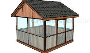 wood screen house plans inspirational screened gazebo wooden kits