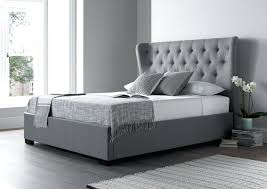 Grey Tufted Bed Frame Decoration Magnificent Tufted Bed Frame King ...