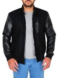 michael b jordan leather jacket rib knitted leather jacket